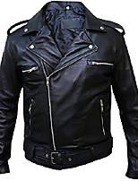 cheap -the walking dead jeffrey dean morgan negan leather jacket,3xl black