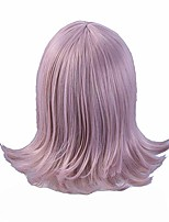 cheap -sunxxcos wavy dangani silver pink 35cm short air hairpin cap cosplay wig synthetic (nanami chiaki wig)