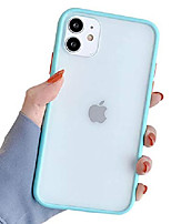 cheap -compatible with iphone 11 case for clear frosted pc back and soft tpu bumper protective silicone slim shockproof case for iphone 11(6.1 inch)-blue