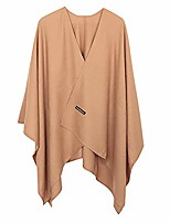 cheap -reversible oversized poncho cape warm shawl wrap open front cashmere blanket cardigans,camel