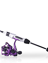 cheap -Fishing Rod and Reel Combo Spinning Rod 168 cm Portable Telescopic Lightweight Heavy (H) Sea Fishing Freshwater Fishing Bass Fishing / Trolling & Boat Fishing