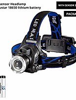 cheap -ir sensor led headlamp fishing lamp super bright led headlight use t6/l2/v6 lamp beads support zoom powered by 18650 battery (package b,l2-2400 lumens)