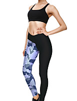 cheap -Women's Sporty Comfort Gym Yoga Leggings Pants Solid Colored Patterned Ankle-Length Print Black