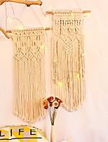 cheap -1 pcs Hand Woven Macrame Tapestry Plant Hanger Holder Bohemian Boho Wall Hanging Ornament Art Decor Home Bedroom Living Room Decoration Nordic Handmade Tassel Cotton