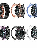cheap -compatible with ticwatch gtx case premium soft tpu screen protector all-around protective bumper shell cover for ticwatch gtx smartwatch (5colors)