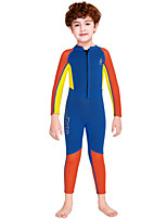 cheap -Boys' Full Wetsuit 2.5mm SCR Neoprene Diving Suit Windproof Quick Dry Long Sleeve Front Zip Patchwork Autumn / Fall Spring Summer / Kids