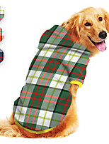 cheap -Dog Hoodie Plaid Printed Classic Cute British Casual / Daily Dog Clothes Puppy Clothes Dog Outfits Breathable Red Blue Green Costume for Girl and Boy Dog Polyster S M L XL