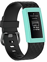cheap -3pcs,compatible for fitbit charge 3 screen protector - silicone case cover watch protectors shell case compatible for fitbit charge 3 (style 4)