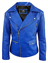 cheap -mens blue leather jacket biker classic motorbike motorcycle vintage perfect leather jacket (xxx-large)