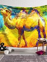 cheap -Oil Painting Style Wall Tapestry Art Decor Blanket Curtain Hanging Home Bedroom Living Room Decoration Polyester Animal Camel