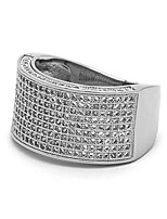 cheap -men hq silver tone iced out cz dome wrap hip hop ring sizes 7-12 (11)