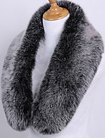 cheap -Sleeveless Shawls / Scarves Faux Fur Wedding / Party / Evening Women's Wrap With Solid