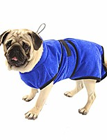cheap -dog bathrobe microfiber quick drying towel with adjustable strap, super soft fast absorbing water bath towel for dogs and cats pets, small