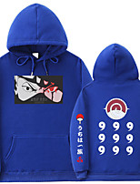 cheap -Inspired by Naruto Hatake Kakashi Cosplay Costume Hoodie Polyester / Cotton Blend Graphic Prints Printing Hoodie For Men's / Women's