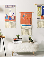 cheap -Hand Woven Macrame Wall Tapestry Hanging Bohemian Boho Art Decor Blanket Curtain Home Bedroom Living Room Decoration Nordic Handmade Tassel Cotton 50*90cm