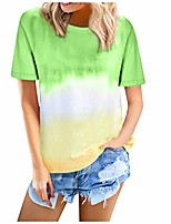 cheap -tops for women long sleeve tie dye t shirts women casual short sleeve wrap tunic tops twist knotted tee green
