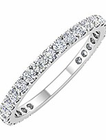 cheap -1/2 carat diamond 3/4 eternity wedding band in 10k white gold (ring size 6.5)