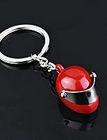 cheap -exquisite motorcycle helmet titanium steel keychain birthday gift car key pendant (red)