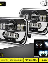 cheap -2 Pcs Running Lights 7X6 Inch 55W Daytime Running Light Led 40W 15W Angel Eyes Leds for Auto Truck