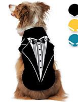 cheap -Dog Shirt / T-Shirt Tuxedo Graphic Optical Illusion 3D Print Classic Gentle Wedding Party Dog Clothes Puppy Clothes Dog Outfits Breathable Black Yellow Blue Costume for Girl and Boy Dog Polyster S M