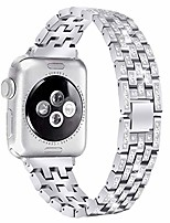 cheap -wristband for iwatch 40mm band, stainless steel rhinestone wristband for apple watch series 4 adjustable watchband strap for women&girl, silver