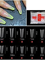 cheap -500PCS French Denim Transparent Nail French Pointed Nail Seamless Nail Ballet Nail Transparent Nail Toe Nail Toe Nail Piece