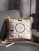 cheap -Trend Brand Light luxury velvet tassel Double sided Printing Pillow Case Cover Living room Bedroom Sofa Cushion cover