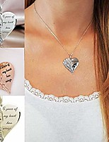 cheap -women heart-shaped lettering chain pendant casual wish necklace key chains