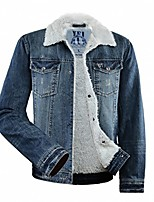 cheap -men's sherpa lined denim jacket