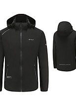 cheap -Men's Golf Jacket Long Sleeve Windproof Breathable Quick Dry Sports Outdoor Autumn / Fall Spring Winter Solid Color Black / Stretchy