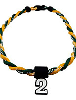 cheap -pick your number - twisted titanium sports tornado necklace (green yellow)