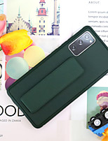 cheap -Magnetic Kickstand Phone Case For Samsung Galaxy S20 Plus / S20 Ultra / S20 Case with Holder Shockproof Back Cover Solid Colored PU Leather