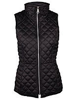 cheap -women's lightweight quilted vest, black, x-large