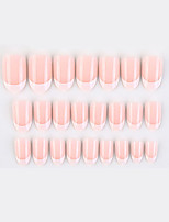 cheap -Light Pink Fake Nail Stickers Wearable Nails Finished Nails Removable Nail Stickers  French Ballet Nails Dreamy Romantic Nails