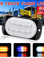 cheap -1Pcs 12V-24V Waterproof 8 Led light Car Trailer Truck Motorcycle Flash Side Marker Light Turn Light Bar Indicator Lamp Automobiles