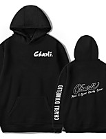 cheap -Inspired by Cosplay Charli D'Amelio Cosplay Costume Hoodie Polyester / Cotton Blend Graphic Prints Printing Hoodie For Men's / Women's