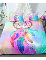 cheap -Pink Tie-dyed Dreamcatcher 3-Piece Duvet Cover Set Hotel Bedding Sets Comforter Cover with Soft Lightweight Microfiber For Room Decoration(Include 1 Duvet Cover and 1or 2 Pillowcases)