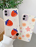 cheap -Case For Apple iPhone 12 / iPhone 11 / iPhone 12 Pro Max Shockproof Back Cover Cartoon / Flower TPU