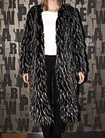 cheap -Long Sleeve Shawls Faux Fur Party / Evening / Office / Career Women's Wrap With Jacquard