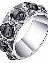 cheap -skulls black punk style 8mm wedding band ring (11.5)