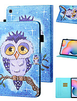 cheap -Case For Samsung Galaxy Samsung Tab A 10.1(2019)T510 / Samsung Tab A 10.1(2019)T515 / Galaxy Tab A 10.5 T595 T590 Shockproof Full Body Cases Animal / Cartoon PU Leather / TPU