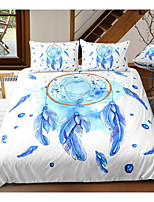 cheap -Blue Dreamcatcher Print 3-Piece Duvet Cover Set Hotel Bedding Sets Comforter Cover with Soft Lightweight Microfiber For Room Decoration(Include 1 Duvet Cover and 1or 2 Pillowcases)