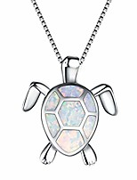 cheap -turtle shape pendant necklace - colorful ornamental charm necklace - jewelry gift for women teens girls