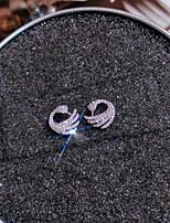 cheap -Women's AAA Cubic Zirconia Stud Earrings Geometrical Bird Romantic Korean Cute Earrings Jewelry Silver For Wedding Prom Date 1 Pair