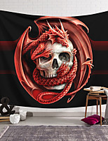 cheap -Wall Tapestry Art Decor Blanket Curtain Hanging Home Bedroom Living Room Decoration Polyester Fiber Skull Skull Flying Dragon Lanting Design
