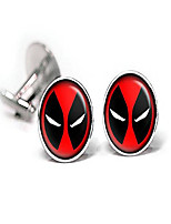 cheap -deadpool cufflinks, tie clip, avengers tie tack, marvel jewelry, cuff links link, groomsmen gift wedding party gifts father's day present birthday presents