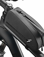 cheap -bicycle top frame bag, ipx4 waterproof bike triangle bag front frame top tube bag cycling pouch pack bike triangle pannier gray 1.6l/1l