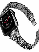 cheap -watch bands for iwatch series 5, 38mm 40mm stainless steel replacement strap rhinestone wristband compatible with iwatch series 4 3 2 1, adjustable bracelet for women kids (black)