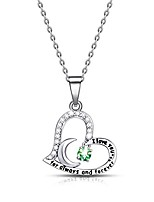 cheap -birthday gift for women i love you dancing birthstone peridot necklace jewelry gift for women girls daughter wife (august)
