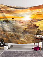 cheap -Wall Tapestry Art Decor Blanket Curtain Hanging Home Bedroom Living Room Decoration Polyester Fiber Landscape Sunset Tide Water Reef Lanting Design Style
